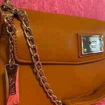 Dkny Donna Karan Glove Soft Saddle Leather Double Flap Shoulder Bag  Msrp 195 Photo