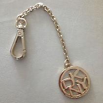 Dkny Donna Karan Gold Tone Key Chain Long Charm Handbag Tag Fob Ring ( Photo