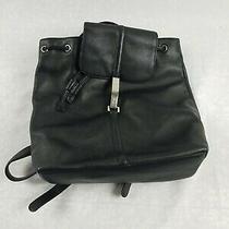 Dkny Donna Karan New York Black Leather Backpack Shoulder Bag Purse Photo
