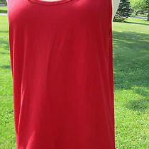 Dkny Donna Karan Red Lacquer Ladies L Cotton Spandex Cami Tank Tee T Shirt 65 Photo