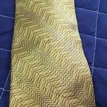 Dkny Donna Karan Signature Men's Necktie Gold Designer Tie Photo