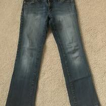 Dkny Downtown Brooklyn Boot Cut Womens Jeans Size 7 Orange Stitching on Pockets Photo