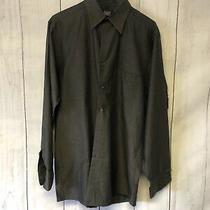 Dkny Dress Shirt Mens Size 15 32/33 Small Gray Cotton L-963 Photo