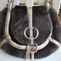 Dkny Faux Fur Handbag - Unique Photo