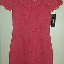 Dkny Fitted Lace Dress Photo