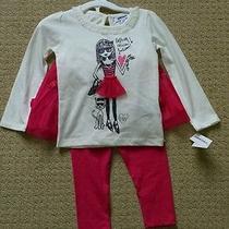 Dkny Girls 3pc Set. Long Sleeve Shirt Leggings Tulle Skirt. Nwt. 2t. Photo
