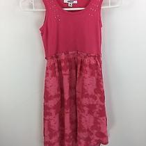 Dkny Girls Youth Pink Bling Dress Size Medium Photo