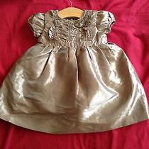Dkny Gold Dress for Baby Girl. 0-3 Months Modern and Trendy. Photo