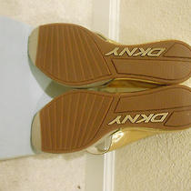 Dkny Gold Wedges Photo