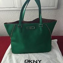 Dkny Green Shopper Handbag Photo