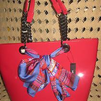 Dkny Handbagglossy Pink Patent Scarf  Satchelhandbagtote Bag  Photo