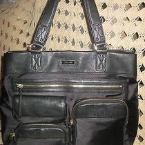 Dkny Handbagnylon Zipper Satchelhandbagtote Bag Black Photo