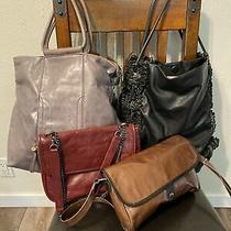 Dkny / Hobo/zaba/texier Purse Lot 4 Purse/ Shoulder Totes Black/grey/burgundy Photo