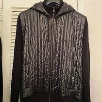 Dkny Jeans Mens Full Zip Black Sweater Jacket Size Xl Photo