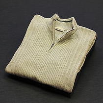 Dkny Jeans Mens Greyish Zip Neck Sweater / Jumper (Size Us Large) Photo