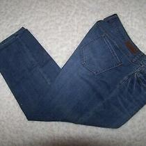 Dkny Jeans Mercer Skinny Blue Denim Jeans Size 16 Stretch Factory Fading Euc Photo