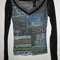 Dkny Jeans See Through Graphic Top Photo