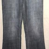 Dkny Jeans Size 4 Mint Boot Cut Fading Mid Rise Medium Blue Free Same Day Ship Photo