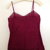 Dkny Jeans Wine Cami - Size Med 49.  Photo