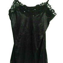 Dkny Jeans Womans Intimates Shinny Black Sold Sequin Teddy Size L Large Photo
