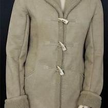 Dkny Jeans Women's Coat Fully Fleece Lined Micro Suede Bone Shape Bottons Sz Xl Photo