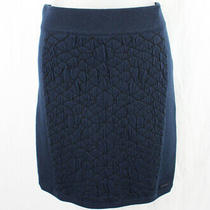 Dkny Jeans Women's Navy Textured Skirt Size L Photo