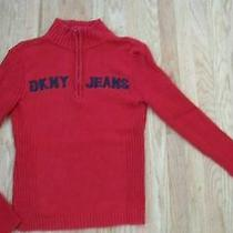 Dkny Jeans Women's Red Logo Sweater Size S Photo