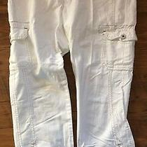 Dkny Jeans Women's White Capris Size 8 Photo
