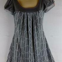Dkny Jeans Xs Multi-Color Grays Geo Jersey Shift Dress Casual Spring Summer Photo