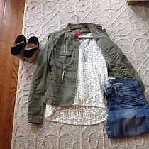 Dkny Lace Top Shirt Size Xs White Lace Photo