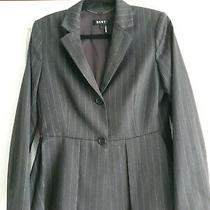 Dkny Ladies Pinstripe Blazer Fits Size 10 Photo