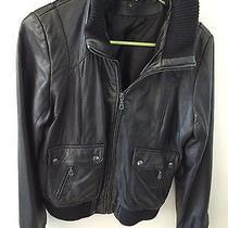 Dkny Leather Bomber Jacket Photo