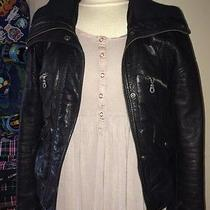 Dkny Leather Bomber Jacket Small Urban Outfitters Photo