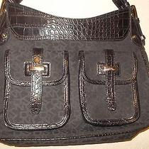 Dkny Leather/cloth Black With Alligator Design and the Dkny Design Photo