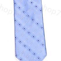 Dkny Light Blue Geometric Neck Tie 100% Silk Gift Donna Karen New York Gift Photo