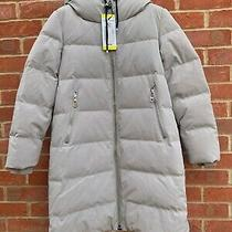 Dkny Longline Puffer Coat d.k.n.y Long Line Down Cinch Big Zip Puffer Jacket Sml Photo