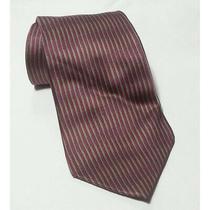 Dkny Men Dress Silk Tie Red Vertical Stripes 4