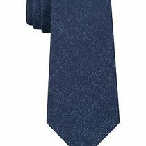 Dkny Men's Blue One Size Denim Scatter Textured Skinny Neck Tie 69 314 Photo
