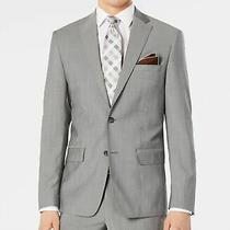Dkny Mens Blazer Gray Size 40 Short Modern Suit Jacket Wool 525 023 Photo