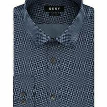 Dkny Mens Blue Collared Work Dress Shirt Size 2xl 18- 36/37 Photo