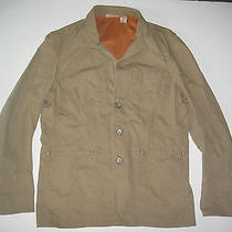 Dkny Mens Casual Jacket Large Tan Barn Coat Cotton Photo