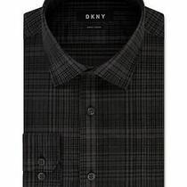 Dkny Mens Gray 16 Collared Work Dress Shirt Size L 16- 34/35 Photo