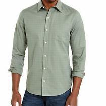 Dkny Mens Green Collared Work Dress Shirt Size S Photo