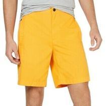 Dkny Mens Orange Size 2xl Welt Pocket Flat Front Classic Fit Shorts 69 228 Photo