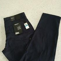 Dkny Mens Pants Navy Size 36x30 Bedford Tapered Straight Leg Stretch 79  Photo