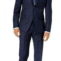 Dkny Mens Suit Navy Blue Size 36 Two Button Blazer Slim Fit Wool 650- 507 Photo
