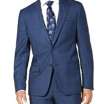 Dkny Mens Suit Seperates Blue Size 38 Regular Stretch Blazer Plaid 525 075 Photo