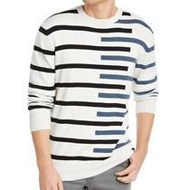 Dkny Mens Sweater Black Blue Gray Size Xl Crewneck Striped Pullover 79- 242 Photo