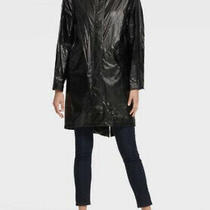 Dkny Metallic Anorak Lightweight Coat in Black Size Xs Rrp 190 Photo