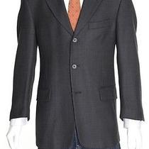Dkny Modern Fit 40r Black Textured Three Button Blazer Sportcoat Photo
